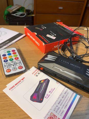 Caixa controladora de ventoinhas RGB  4 pin + 3 pin argb