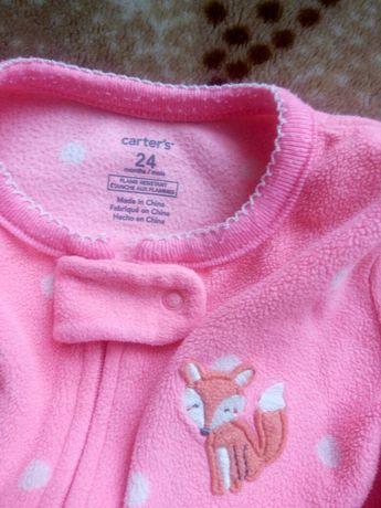 Пижама Человечек слип комбинезон флис 1-2 года 24 мес Carter's