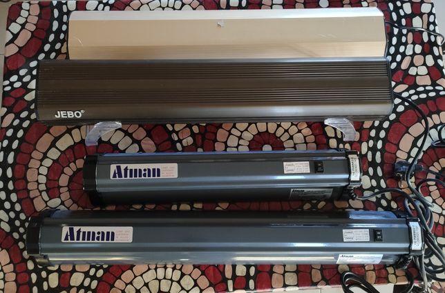 Акваріумні світильники серії Jebo JB60s, Atman AT-60, 70. DL-15 Resun