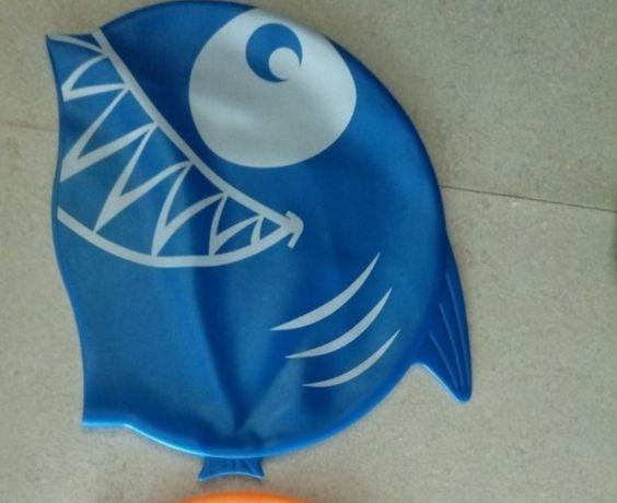 Czepek dla dzieci czepek ryba rekin na basen