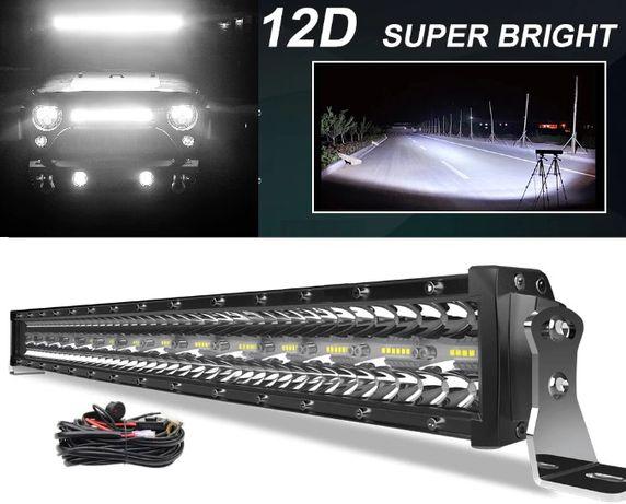 Barra LED Auto - Fila tripla - 12D - IP68