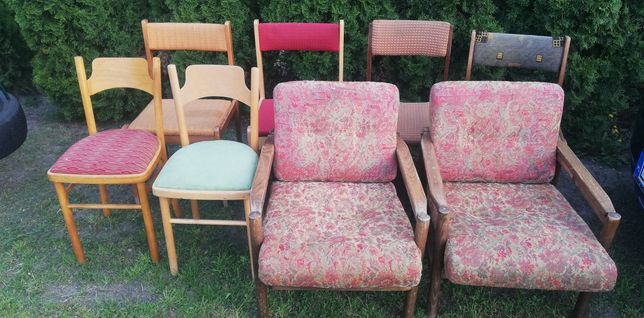 Meble fotele krzesła PRL