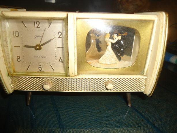 Relógio despertador em baquelite c / música Anos 50 Germany
