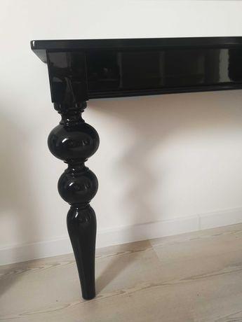 Przepiękna konsola glamour czarna lakier komoda