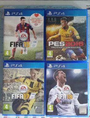 Pack de Jogos Playstation 4: Fifa 15, 17 e 18.