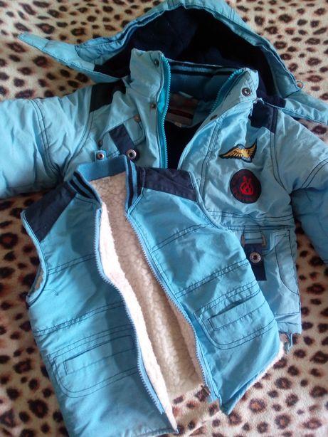 Куртка+жилетка рост 98