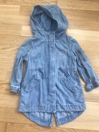 Gap Джинсовая парка-курточка для девочки на 3 года