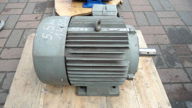 Silnik elektryczny 3 fazowy 5,5 kW 1450 obr na łapach