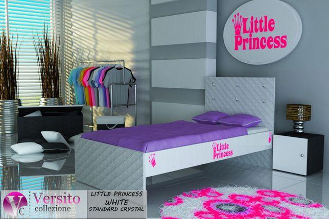 Łóżko dla dziecka,dziecięce z kryształkami,materac 10 cm w cenie.