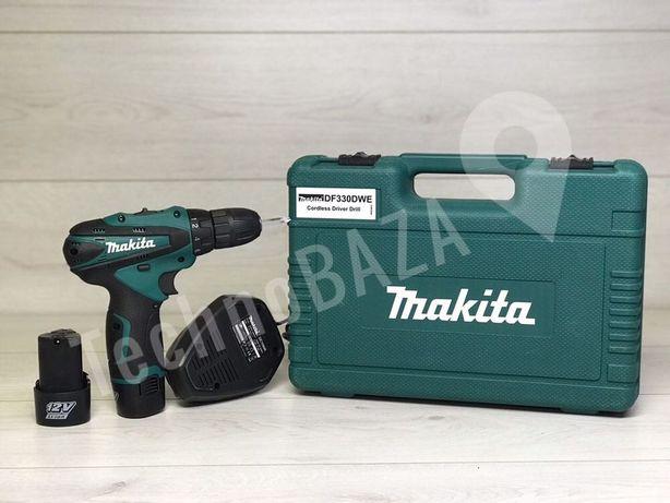 Качество, дрель, аккумуляторный шуруповерт Makita DF330D 12Вт. Новый