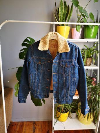 rocky jeansowa katana xs z futerkiem 34 jeans kurtka katanka
