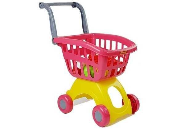 Wózek Sklepowy Marketowy Owoce Jajka Zestaw zakupowy