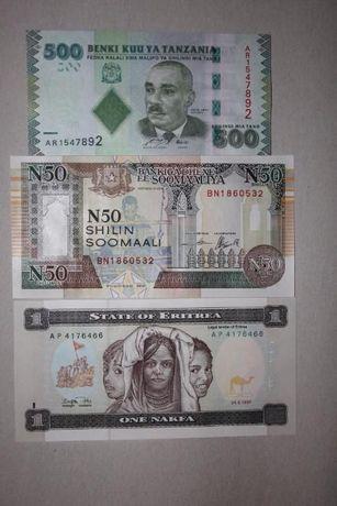 Набор екзотики Танзания-Сомали-Еритрея- 1 лот - 3 шт. -UNC