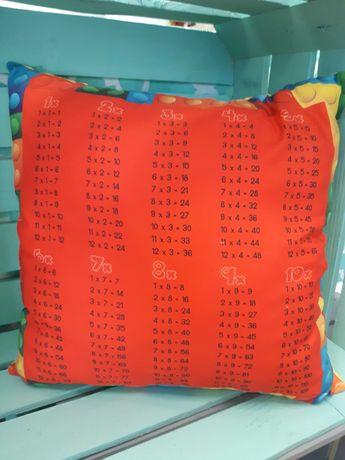 Poduszki z tabliczka mnozenia