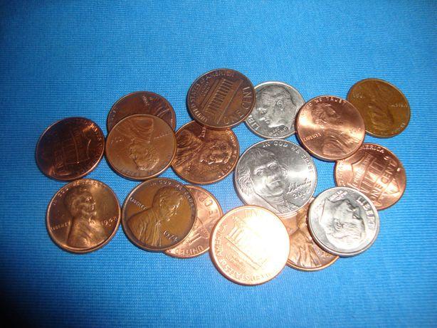 Монеты США - центы 16 монет одним лотом !