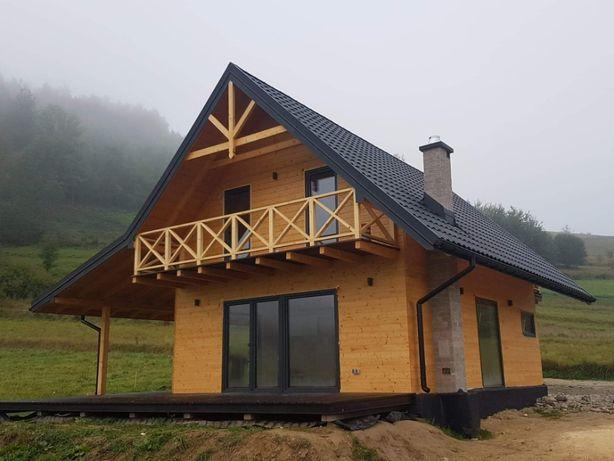Budowa domów z drewna, szkieletowych, letniskowych, całorocznych