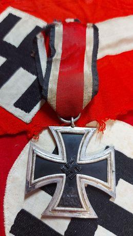 Eiserne Kreuz II herst.100 Alemanha nazi-suástica ORIGINAL Cruz Ferro