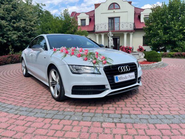 Piękne Audi A7! Białe + s-line
