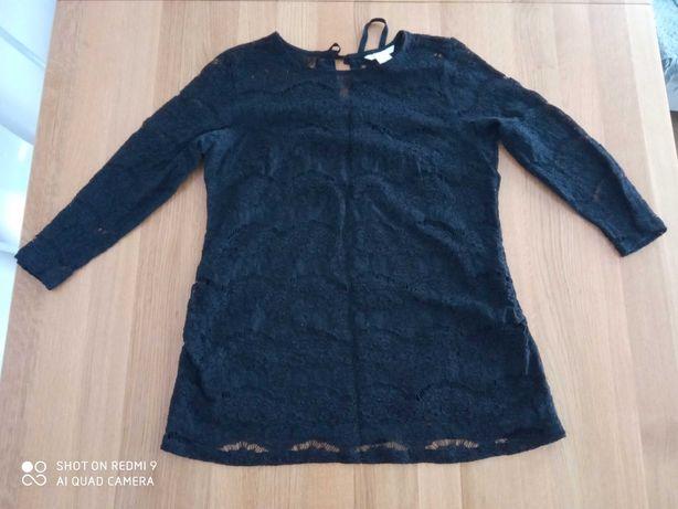Elegancka ciążowa bluzka H&M czarną rozmiar L