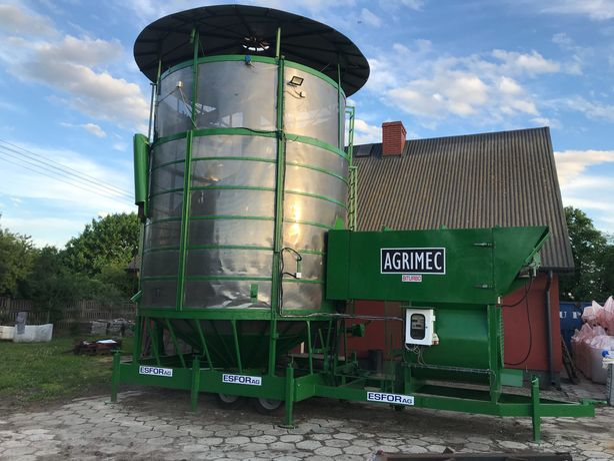 Suszarnia do kukurydzy i zboża, 30 ton zasypu , Stan Bardzo dobry