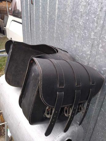 Sakwy torby motocyklowe skóra