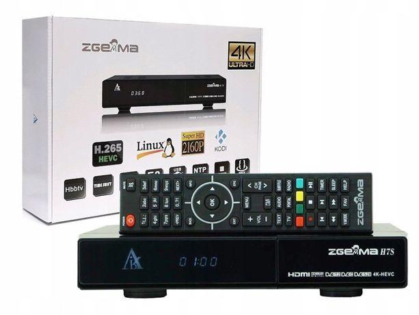 ZGEMMA H7S 4K 2xS2X+1xT/C z Dyskiem 1TB Enigma