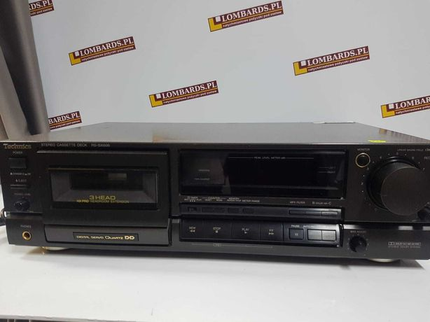 Magnetofon kasetowy Technics RS-BX606 czarny
