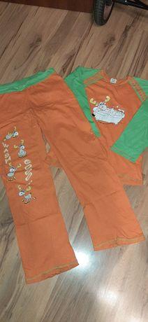 Damska piżama pomarańczowa
