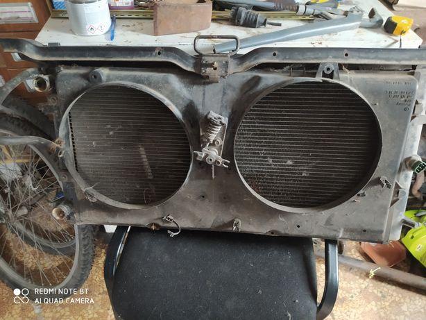 Радиатор фольксваген т4 целий с креплением, можна вместе с вентилятора
