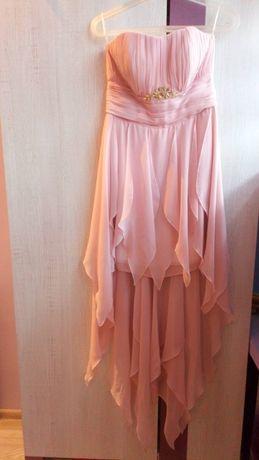 Weselna lub ślubna sukienka