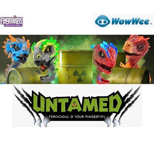 WowWee UNTAMED Radioactive Dinos Fingerlings Динозавр Интерактивная