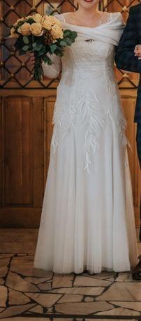 Suknia ślubna Margarett BONITA rozmiar 38 ; zimowa suknia ślubna