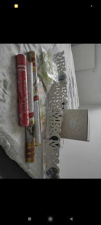 Pudełko na koperty ślubne dekoracje konfetti itp