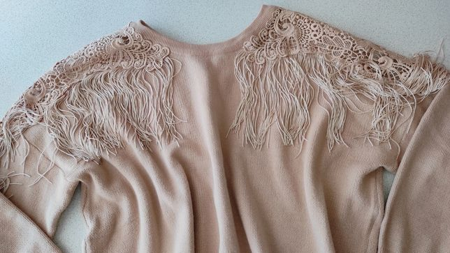 Nowy karmelowy sweter wiosna m l