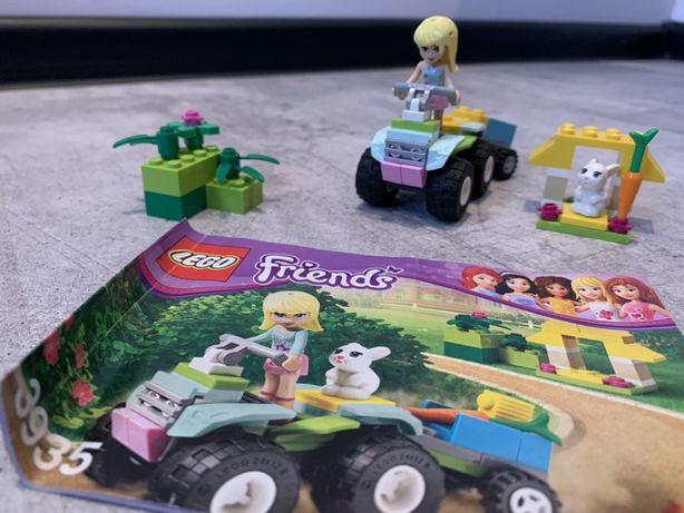 Lego Friends zestawy: kot, autko dla zwierząt.,3935, 41018