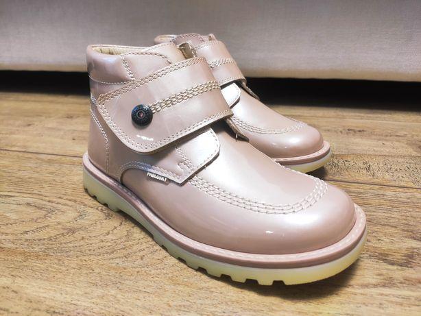 Ботинки для девочки PAPLOSKY charol pearl adra