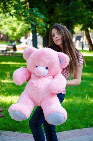 Большой мягкий мишка плюшевый ведмедь на подарок девушке