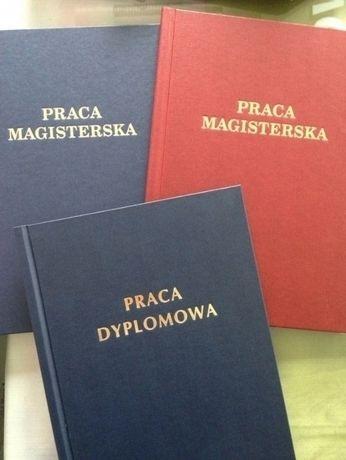 oprawa / druk prac dyplomowych Kłodzko - licencjacka, magisterska