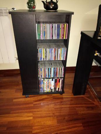 Móvel giratória com 4 colunas para CDs, cassete etc