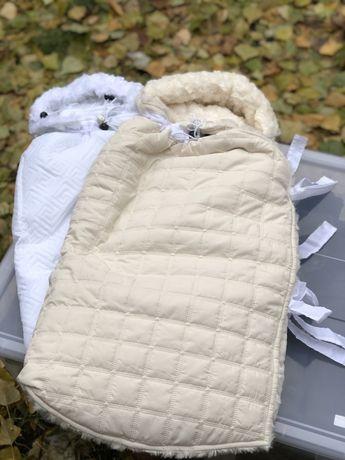 Зимний конверт в коляску-люльку - для новорожденных