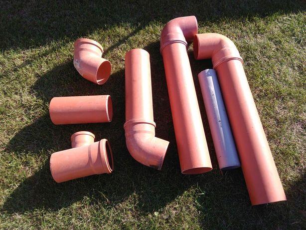 Rura kanalizacyjna 160 PCV,kolana,trojniki
