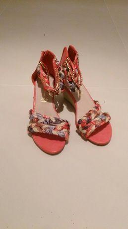 Sandałki kolorowe espadryle