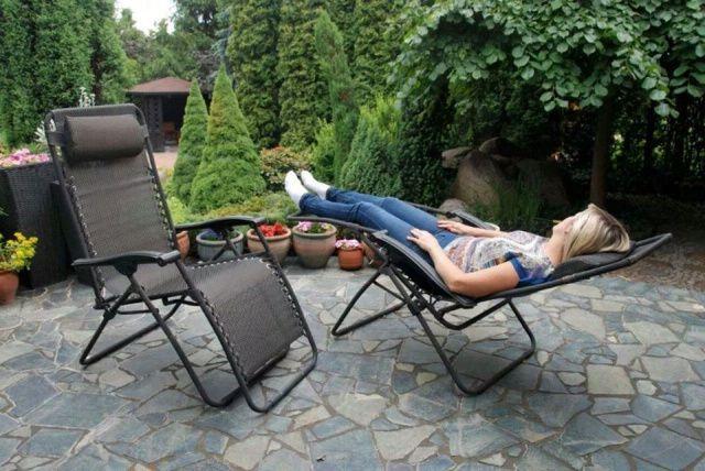 Польский усиленный садовый пляжный шезлонг кресло шезлонг лежак