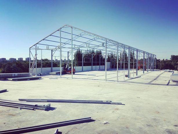 Konstrukcja hali namiotowej 20x30x4,6 ŁUKASIUK