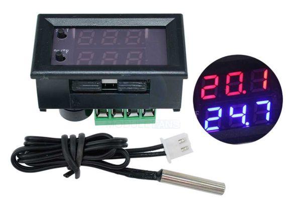 Терморегулятор термостат 12В. термометр для инкубатора теплиц и пр.