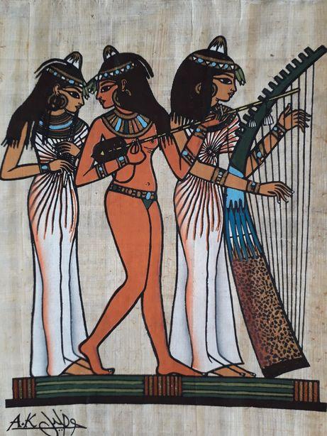 Картина на египетском папирусе