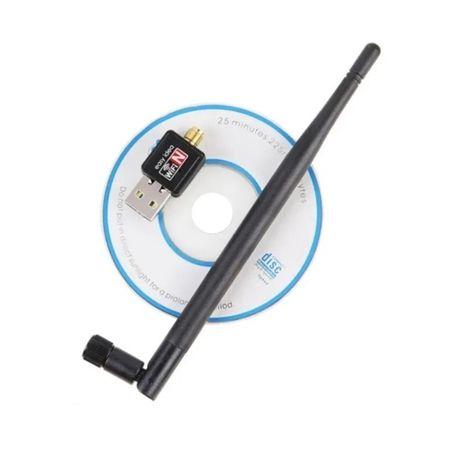 USB WiFi 5db антена, адаптер mt-7601 на ноут, ПК, ТВ приставок Т2