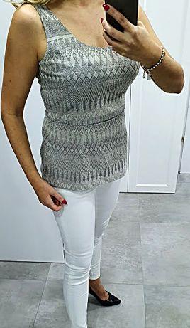 H&M nowa elegancka żakardowa bluzeczka %%