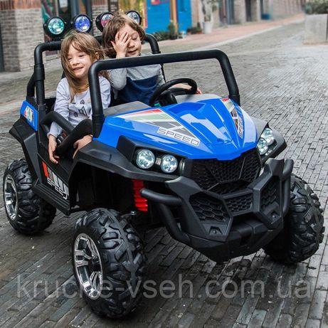 Детский электромобиль Джип M 3454(2), 2-х местный, 4х4, кожа, EVA