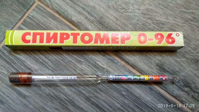 Спиртомер 0-96° спиртометр виномер 18% сахаромер 25%